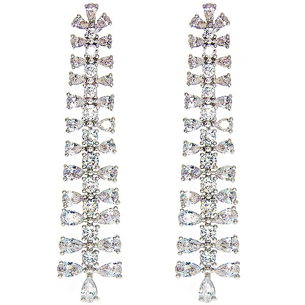 Cercei lungi, eleganți, cu cristale strălucitoare [0]