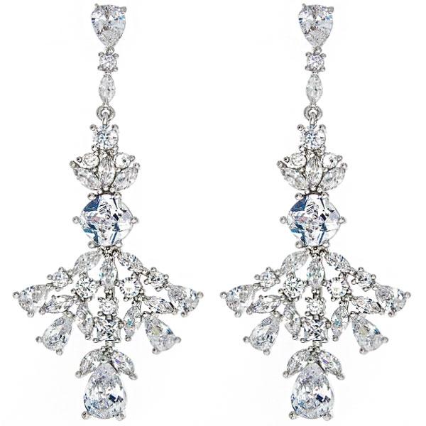Cercei deosebiți eleganți pentru ocazii speciale, decorați cu cristale [0]