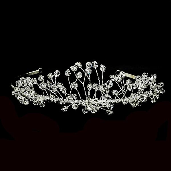 Diademă pentru mirese, cu cristale și perle [2]