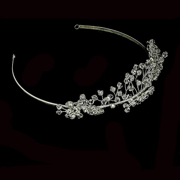 Diademă pentru mirese, cu cristale și perle [3]