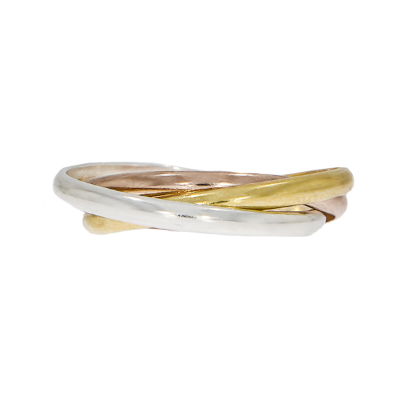 Inel cu verigi intercalate din argint, argint placat cu aur și aur rose [3]