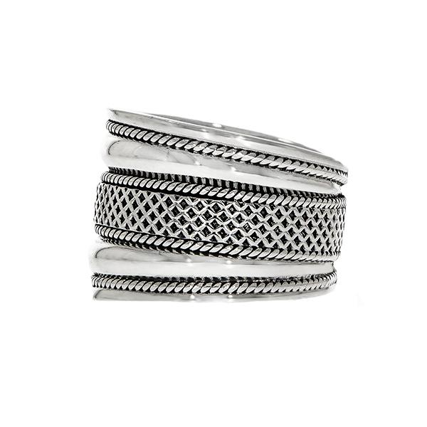 Inel stil verighetă din argint antichizat lat [2]