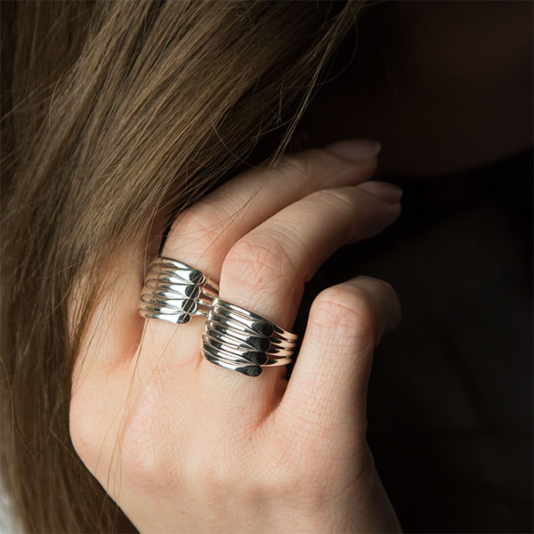 Inel stil verighetă argint lucios [3]