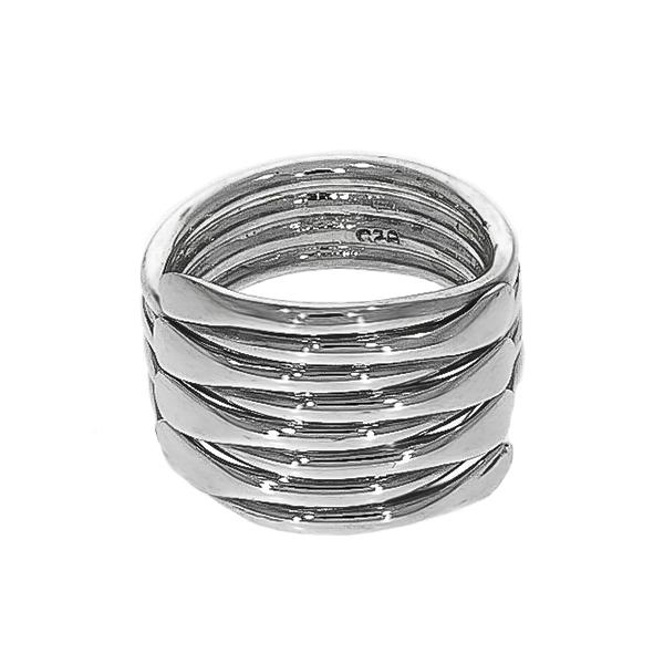 Inel stil verighetă argint lucios [4]