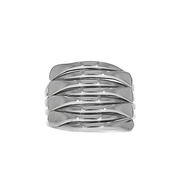 Inel stil verighetă argint lucios [2]