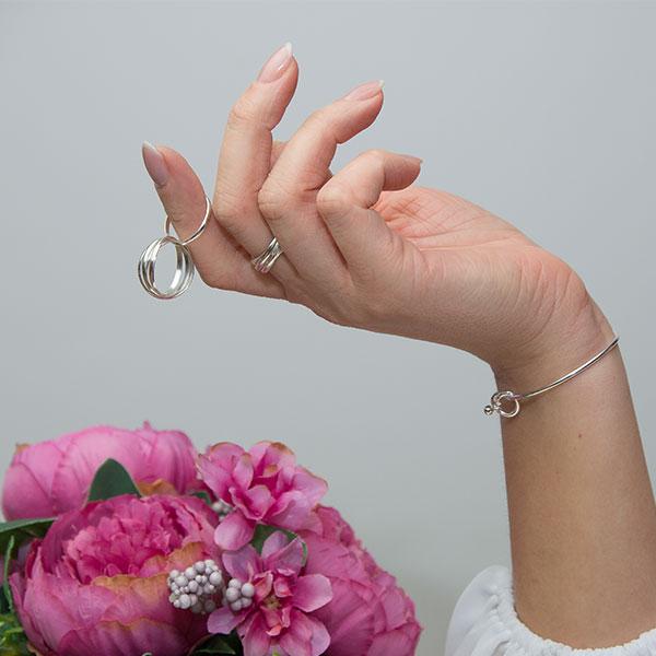 Inel din argint cu verigi intercalate [5]