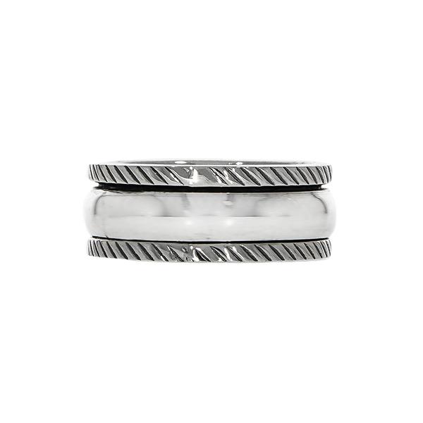 Inel antistres din argint simplu [2]