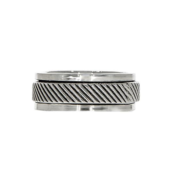 Inel antistres, din argint, model bărbătesc [0]