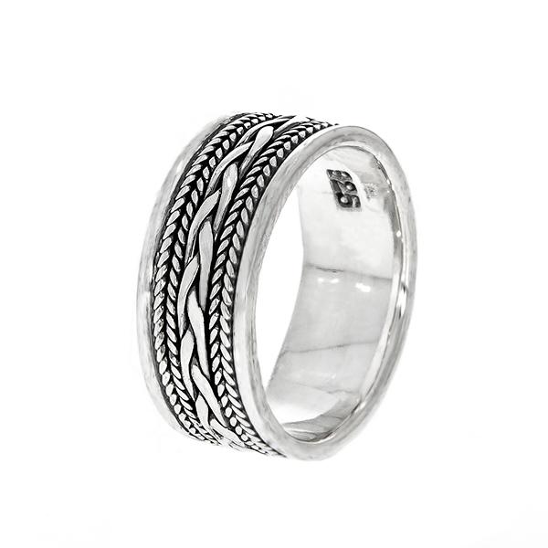Inel din argint cu model antichizat [0]