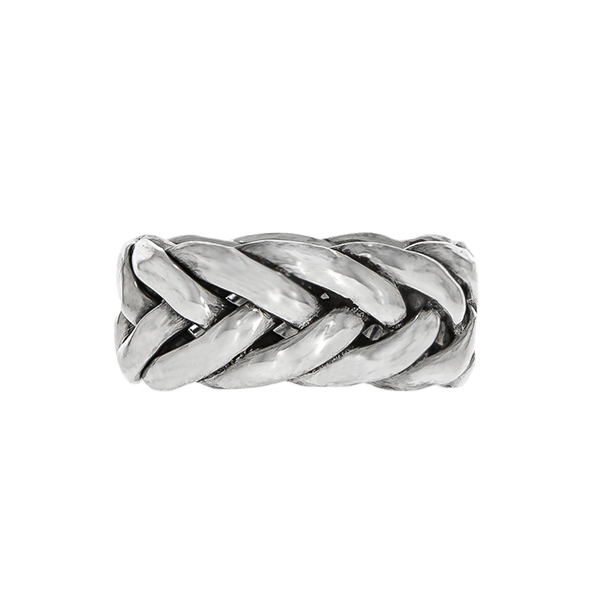 Inel împletit din argint antichizat [3]