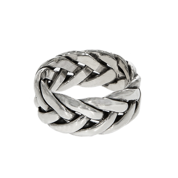Inel împletit din argint antichizat [5]
