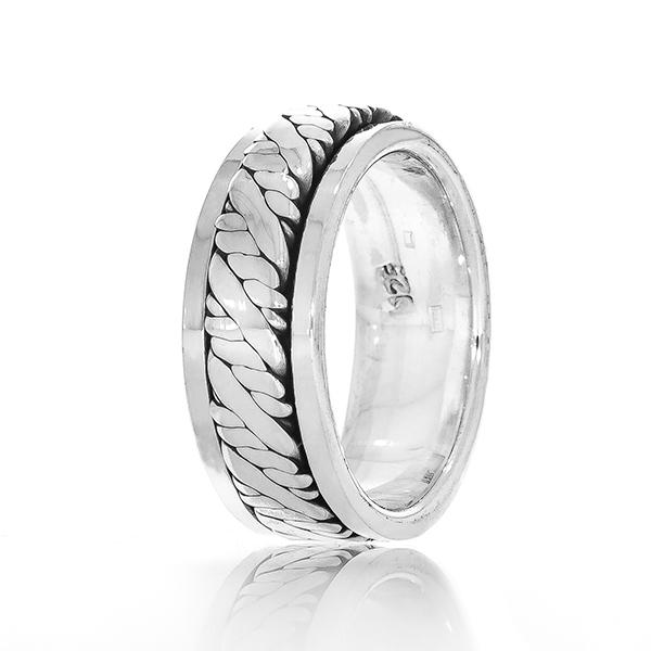 Inel verighetă pentru bărbați din argint [2]