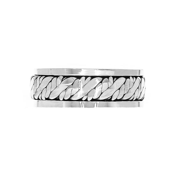 Inel verighetă pentru bărbați din argint [0]