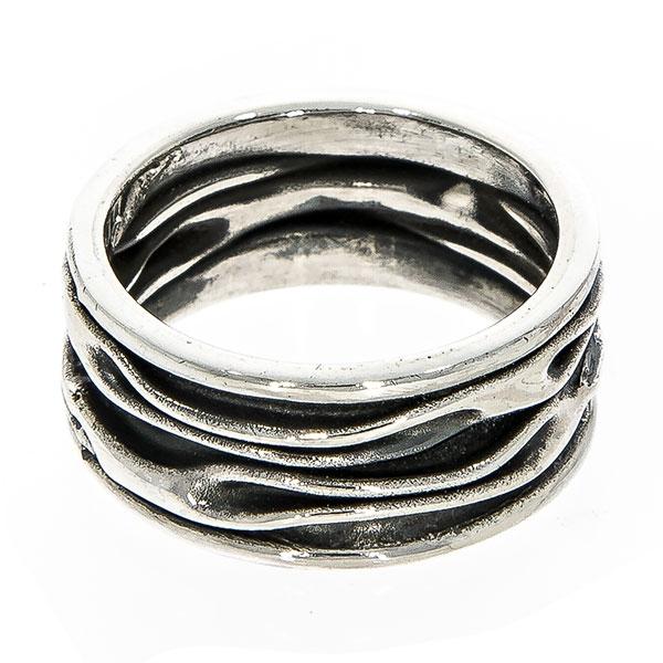 Inel stil verighetă din argint antichizat [2]