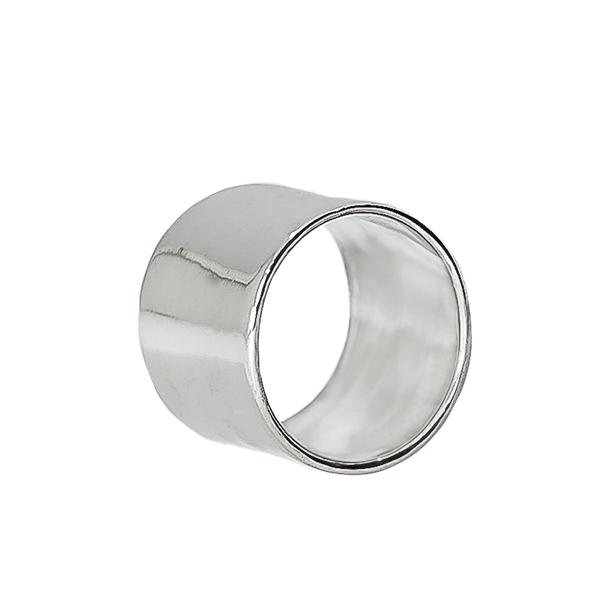 Inel statement din argint masiv, model lat [0]