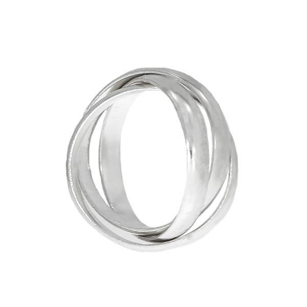 Inel din argint 925 cu verigi intercalate [2]