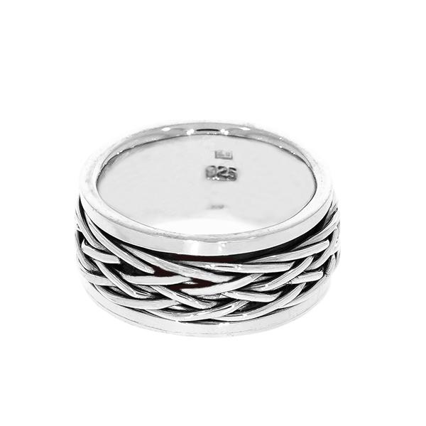 Inel bărbătesc din argint antistres [1]