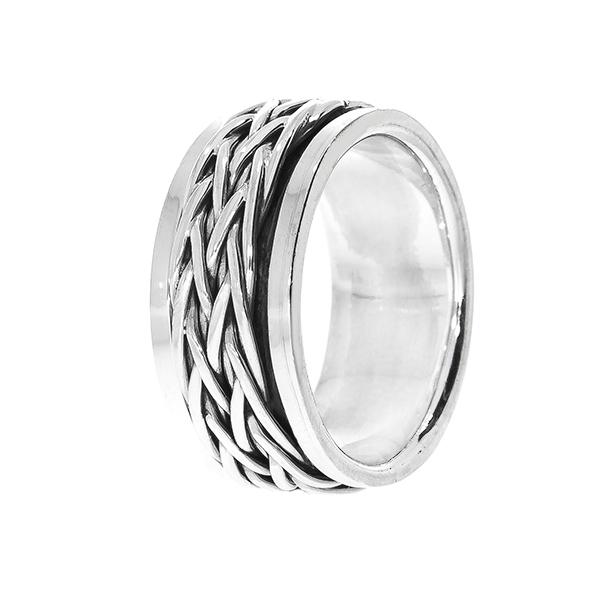 Inel bărbătesc din argint antistres [2]