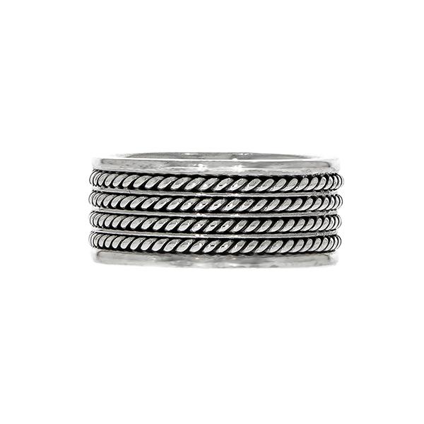 Inel din argint stil verighetă [0]