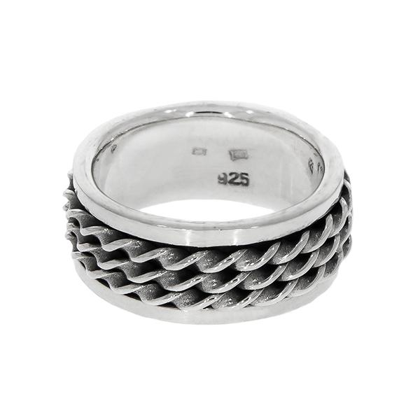 Inel bărbătesc, din argint masiv, model antistres [4]