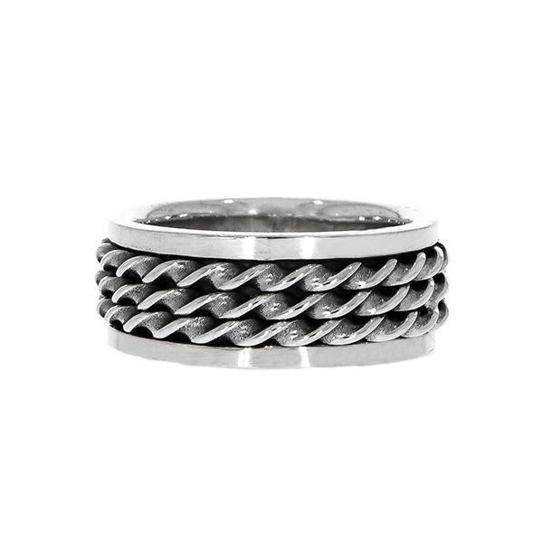 Inel bărbătesc, din argint masiv, model antistres [3]
