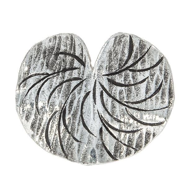 Inel din argint antichizat handmade model frunză [2]