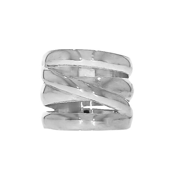 Inel din argint, model lat [0]
