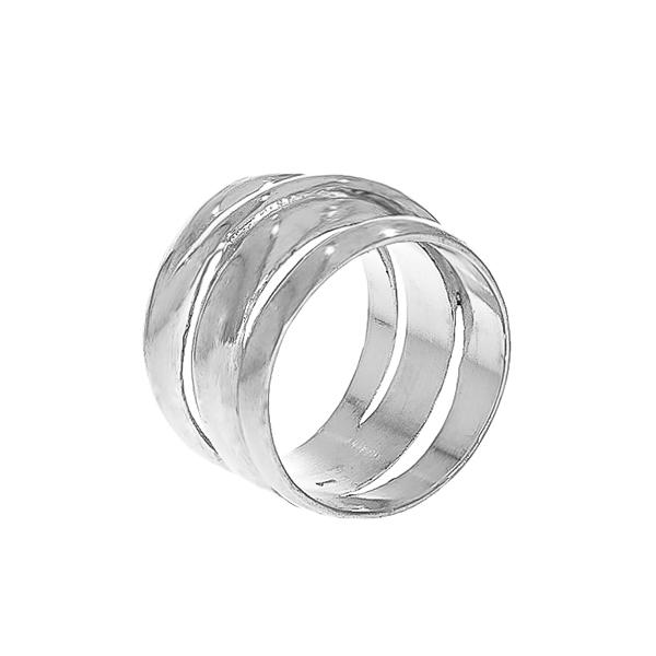 Inel din argint, model lat [4]