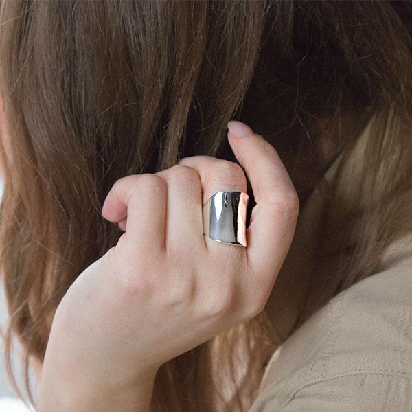 Inel argint model lat [2]