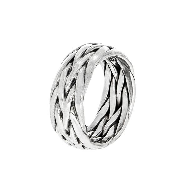 Inel verighetă, din argint, împletit [2]