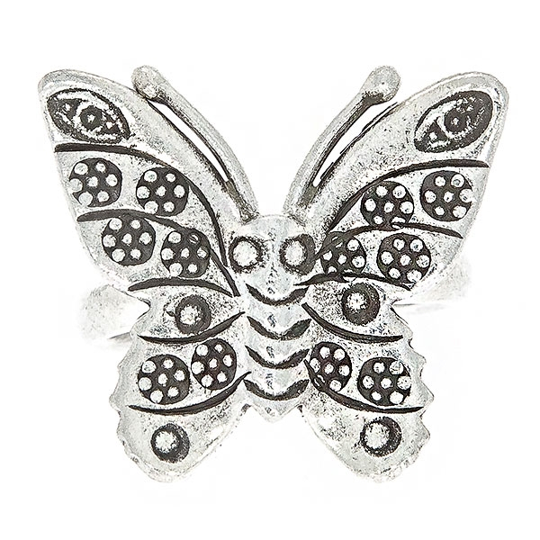 Inel din argint antichizat fluture [0]