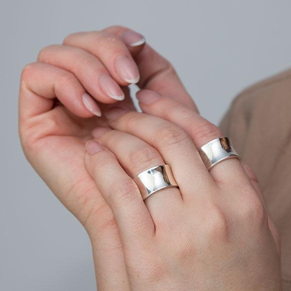 Inel argint stil verighetă [0]