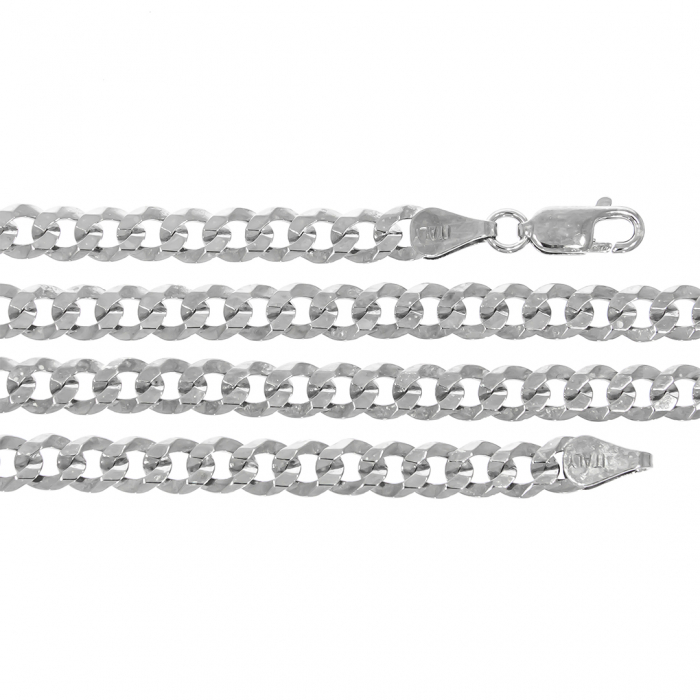 Lanț bărbătesc din argint 925 cu zale aplatizate [0]