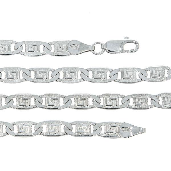 Lanț din argint pentru bărbați, cu plăcuțe, model grecesc [1]