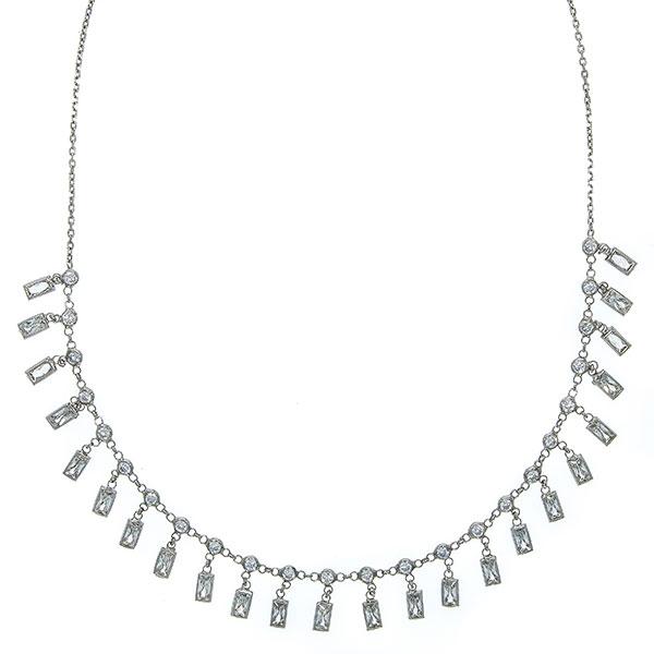 Colier tip salba din argint cu cristale [3]