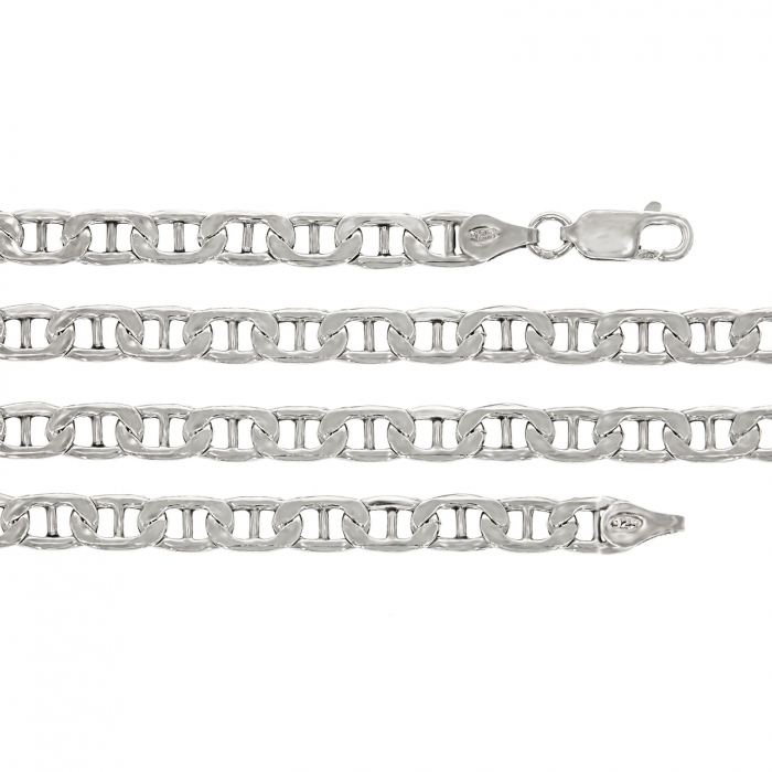 Lanț din argint, pentru bărbați, cu zale plate [0]
