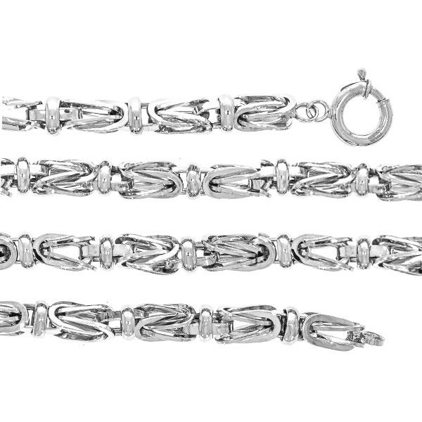 Lanț lung bărbătesc din argint, model bizantin cu elemente masive [1]