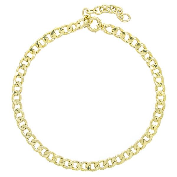 Colier choker din argint placat cu aur [1]