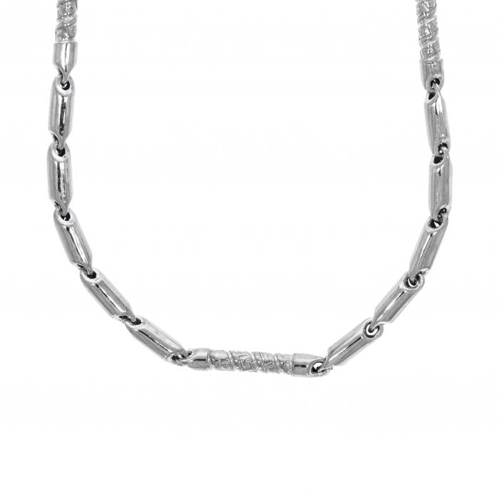Lanț din argint pentru bărbați cu elemente tubulare electroformate [3]