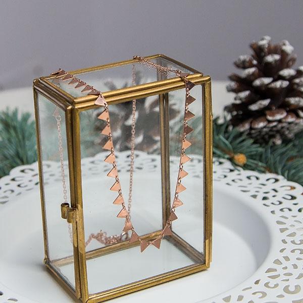 Lantisor tip salba din argint placat cu aur rose [4]