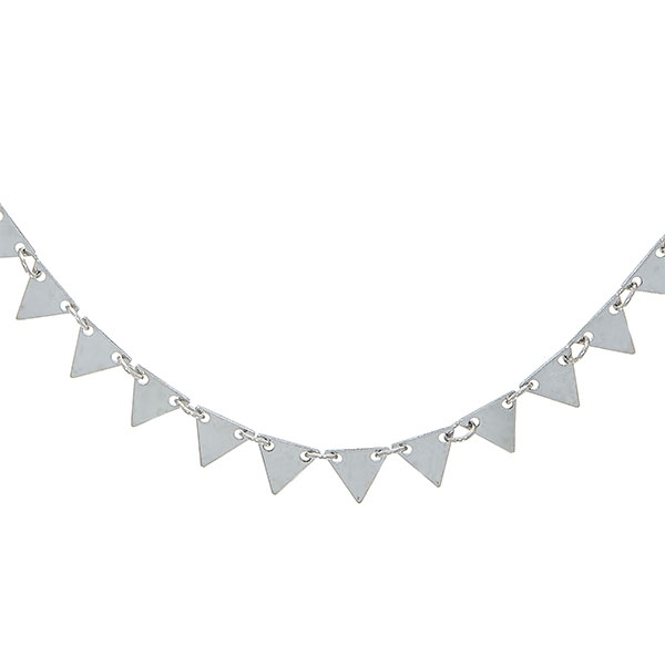 Lantisor tip salba din argint cu triunghiuri [0]