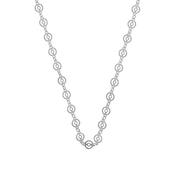 Lant cu banuti dantelati din argint rodiat [2]