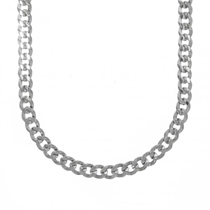 Lanț argint pentru bărbați, cu zale aplatizate [0]