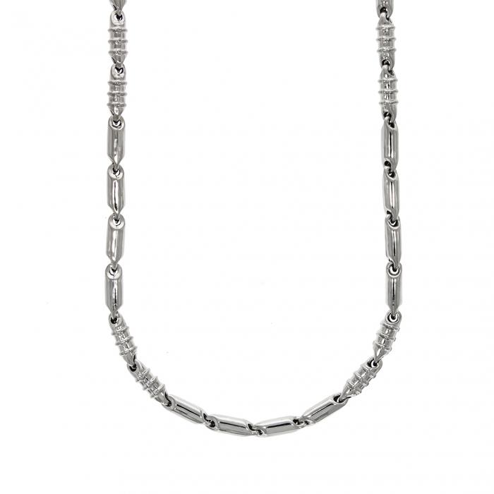 Lanț bărbătesc din argint cu elemente tubulare [0]