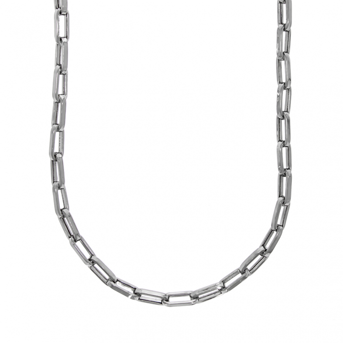 Lanț argint bărbătesc cu zale dreptunghiulare [0]