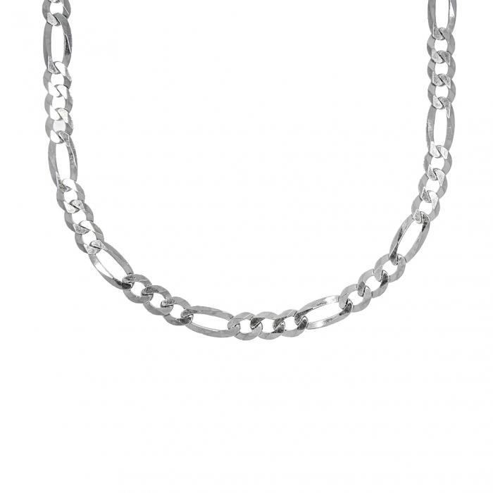 Lanț din argint bărbătesc cu zale tip figaro [0]