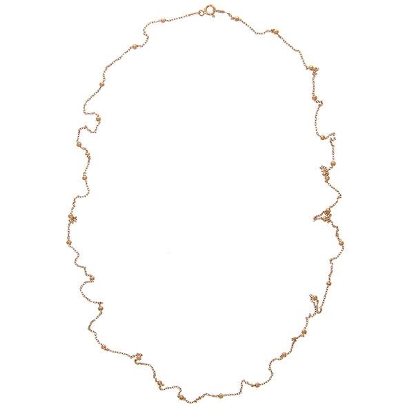Lant lung argint placat cu aur rose si bilute [1]