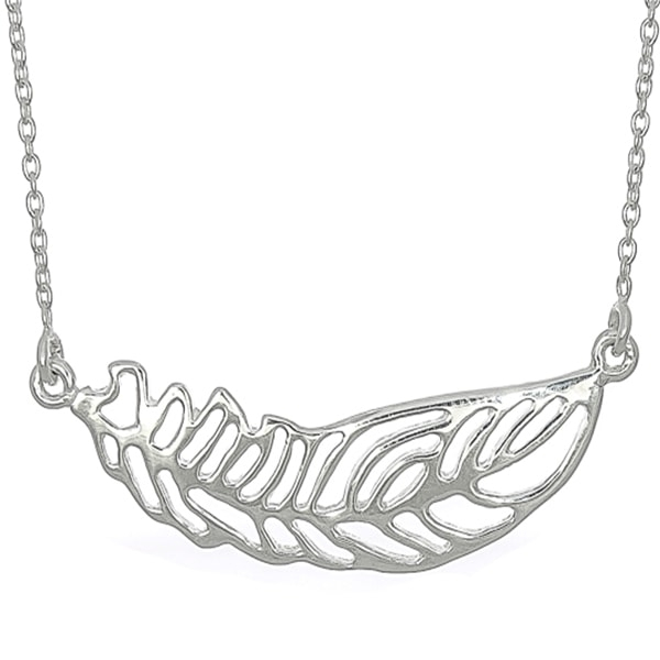 Lantisor din argint model frunza [0]
