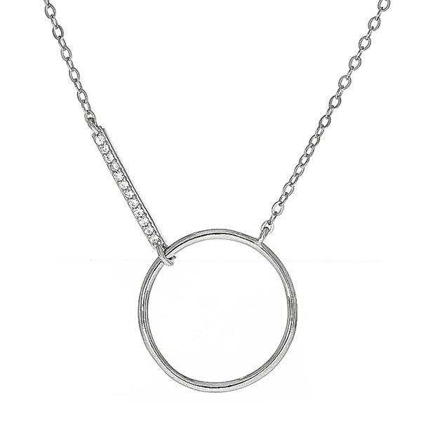 Lantisor Argint cu medalion model cerc gol [0]