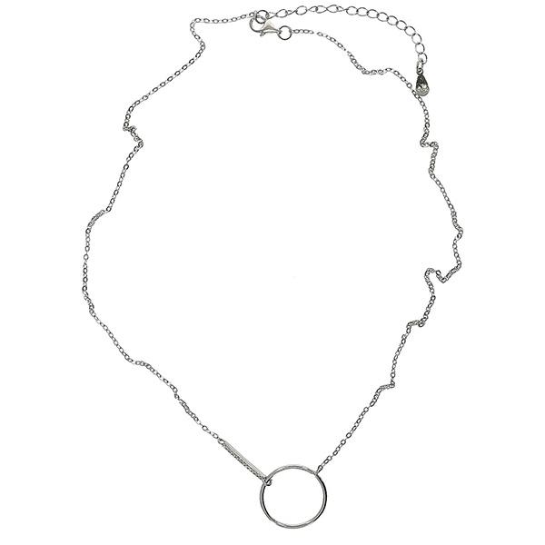 Lantisor Argint cu medalion model cerc gol [2]